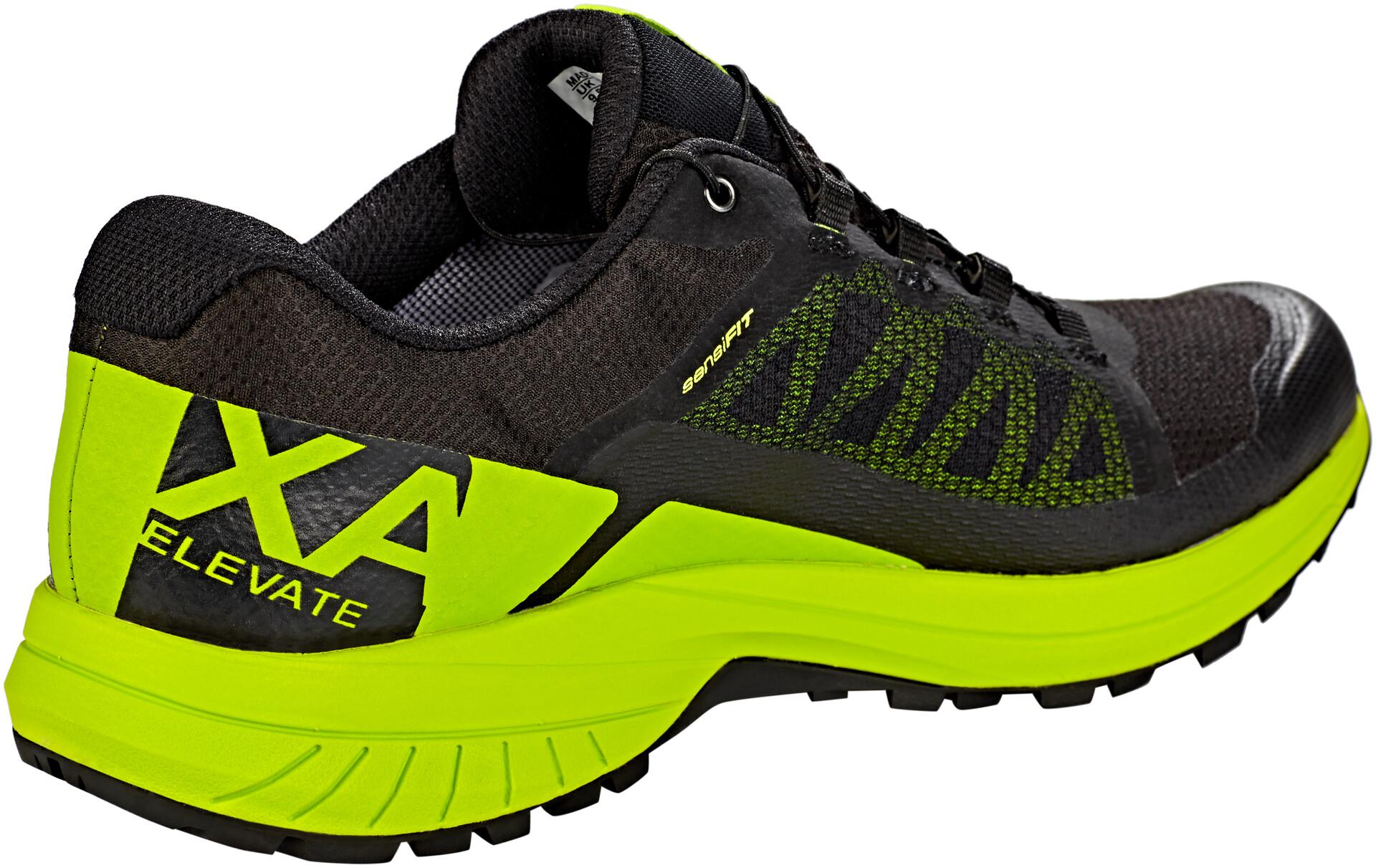 Salomon XA Elevate GTX Trailrunningschuhe Black Lime Green Black   7,5 (UK)